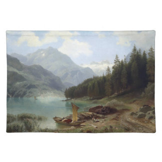 Alps Wilderness Lake Forest Boats Placemat