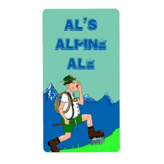 Alps Yodel Lederhosen Beer Homebrewing Fun Labels