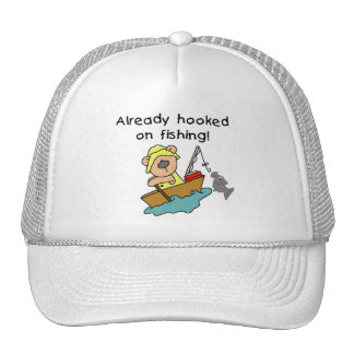 Already Hooked on Fishing Tshirts and Gifts Cap