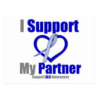 ALS Awareness I Support My Partner Postcard