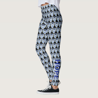 ALS Blue and White Awareness Ribbon Angel Leggings