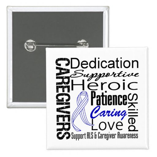 ALS Caregivers Collage Buttons