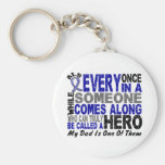 ALS Hero Comes Along 1 Dad Key Chains
