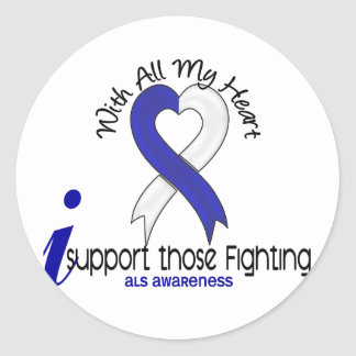 ALS I Support Those Fighting Round Sticker