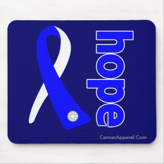 ALS Lou Gehrig's Disease HOPE Ribbon Mouse Pad