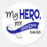 ALS My Grandma My Hero 42 Round Sticker
