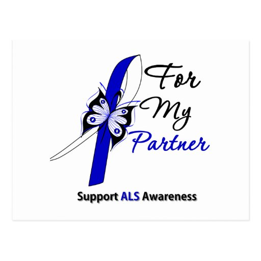 ALS Support For My Partner Post Cards