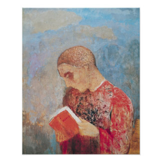 Alsace or, Monk Reading, c.1914 Poster