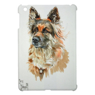 Alsatian Dog Portrait iPad Mini Case