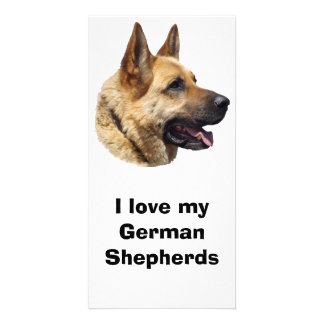 Alsatian German shepherd dog portrait Personalised Photo Card
