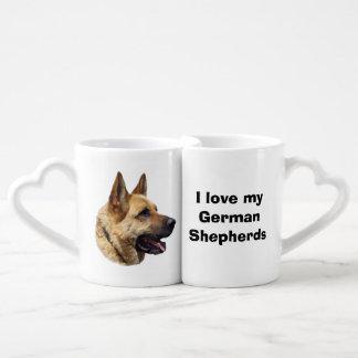 Alsatian German shepherd dog portrait Lovers Mugs