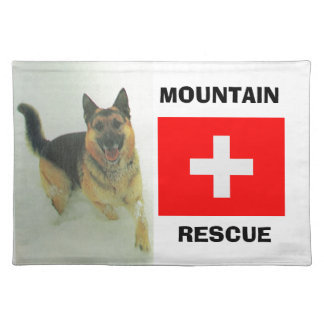Alsatian, Mountain rescue team Placemat