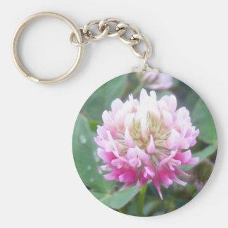 Alsike Clover Blossom 1 Key Chain