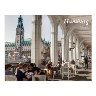 Alsterarkaden, Hamburg, Germany Postcard