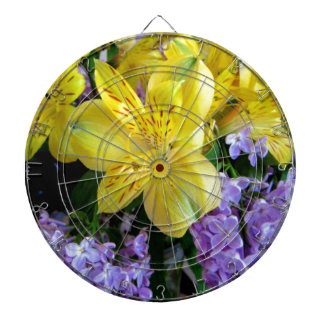 Alstroemeria and  Lilacs Flowers Dartboard