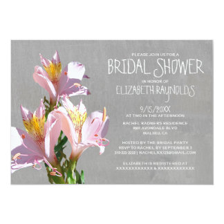 Alstroemeria Bridal Shower Invitations