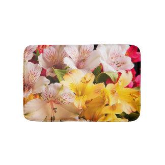 Alstroemeria Flowers Bath Mat