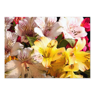 Alstroemeria Flowers Invitation