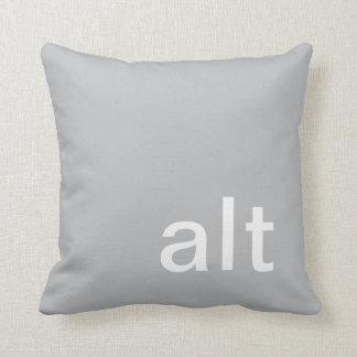 alt button pillow, Gray & White Cushion