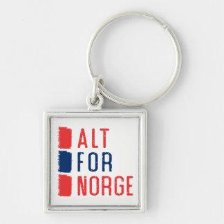 Alt For Norge Keyring, Norwegian Motto Key Ring