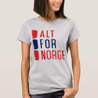 Alt For Norge Norwegian Motto Tee Shirt