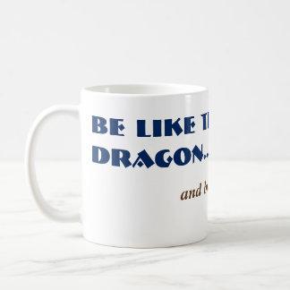 Alt Funny Dragon Fart Joke Mystical Mythical Basic White Mug