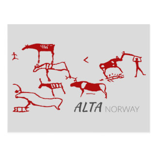 Alta, Norway (rock carving) Postcard