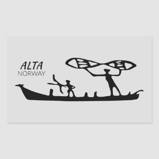 Alta, Norway (rock carving) Rectangular Sticker