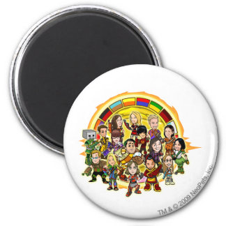 Altador Cup Staff Group 6 Cm Round Magnet