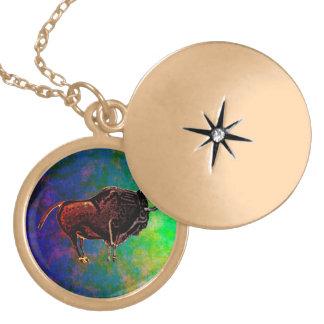 Altamira Bison Locket Necklace