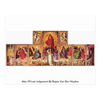 Altar Of Last Judgement By Rogier Van Der Weyden Postcard
