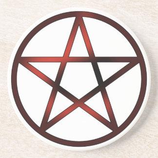 Altar Pentacle - Red Coasters