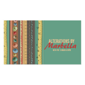 Alteration, Clothing, Tailor, Seamstress Vintage Pack Of Standard Business Cards