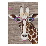 Altered Art Funky Giraffe Shirt Greeting Card