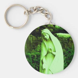 Altered Green Virgin Mary Keychain