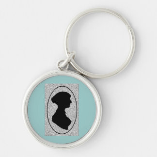 Altered Jane Ausetn silhouette Key Ring