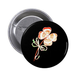 Altered Light Golden Irish Sparkle 4 Leaf Clover Buttons