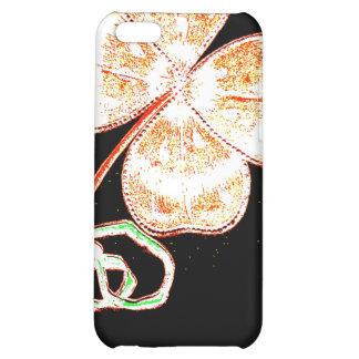 Altered Light Golden Irish Sparkle 4 Leaf Clover Case For iPhone 5C