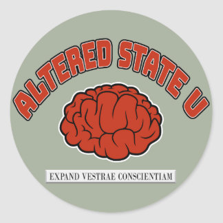 Altered State U Classic Round Sticker