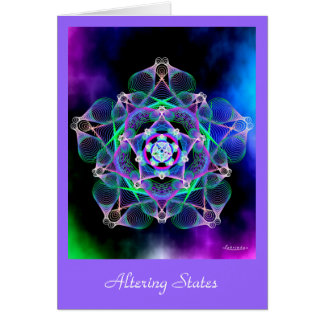 Altering States Greeting Card