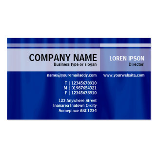Alternate Tones - Blue Curtain Business Cards