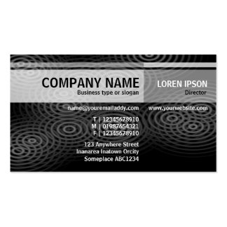 Alternate Tones - Electric Rain (B&W) Pack Of Standard Business Cards