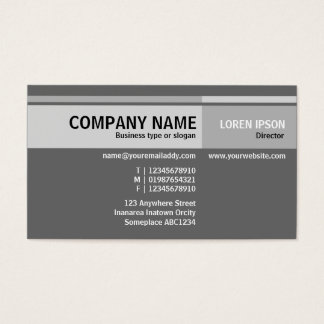 Alternate Tones - Gray Business Card
