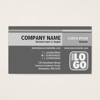 Alternate Tones (Logo) - Grey Business Card