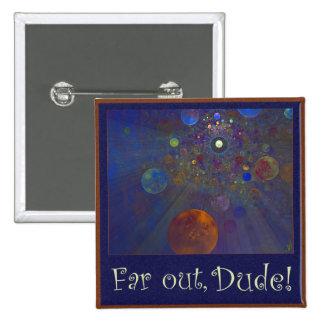 Alternate Universe Abstract Art 15 Cm Square Badge