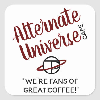 Alternate Universe Café stickers