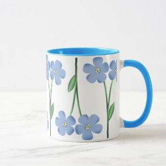 Alternating Blue Flowers Mug