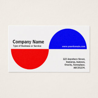 Alternating Crecents - Red and Blue (Platinum) Business Card