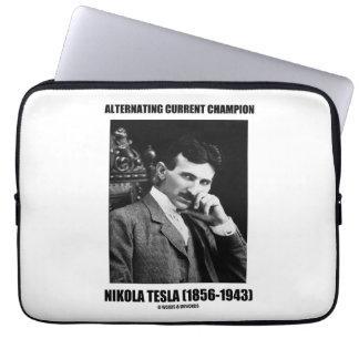 Alternating Current Champion Nikola Tesla Computer Sleeve