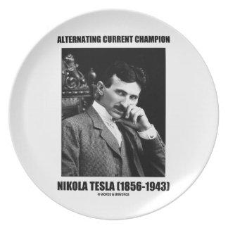 Alternating Current Champion Nikola Tesla Plates